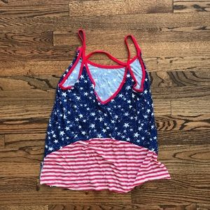 New CLOUD CHASER 4th of July Tank Top Flag Stars L